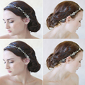 2016 Nova Tiara de Cristal de Noiva Casamento Coroa Cocar Acessórios Do Cabelo Do Casamento Cabelo Garra Hairwear Headband Branco