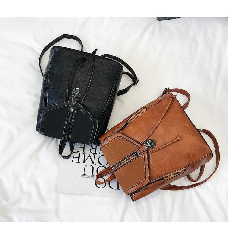HTB1kdPVbQ9E3KVjSZFGq6A19XXaj Vintage Matte Leather Women Backpacks High Quality Multifunctional Shoulder Bag Female Girls Backpack Retro Schoolbag XA533H