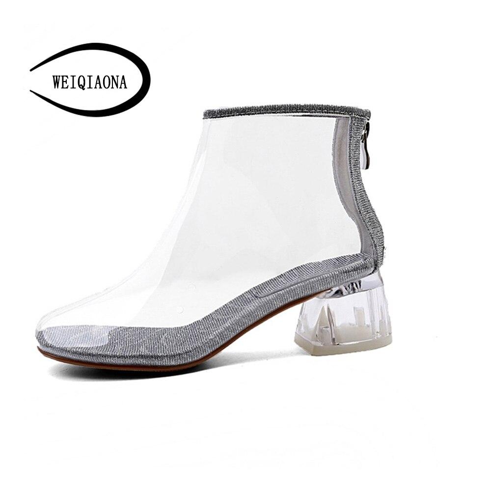 2018 Robe Brand Chaussures Talons Femmes Shunruyan Nouveau Hauts Bottes Pionted Beige Design Sandales Parti Zipper noir Orteil Du New PiZukX