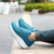 2017 Mujeres de La Manera zapatos de Plataforma calzado de Calle Impresión perder-peso de swing zapatos de cuña ocasional solos zapatos para dama adolescentes