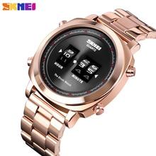 Skmei シンプルなクォーツ腕時計防水ステンレス男性の高級メンズ腕時計ファッションクリエイティブ時計レロジオ masculino