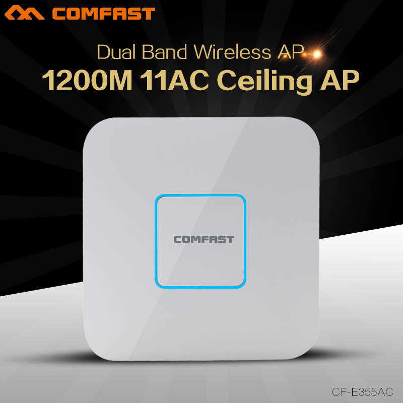 COMFAST 1200Mbps WI-FI router 2.4G+5G 802.11AC wireless Ceiling AP CF-E355AC WiFi Access Point AP for big area wifi coverage