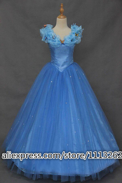 Cinderella Princess 2018 Cinderella dress for adult women blue ...
