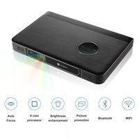 LESHP 1080P HD Projector Home Cinema Screenless Computer(2G+32G) Wifi 200 Inch Screen Auto Focus Portable for Home