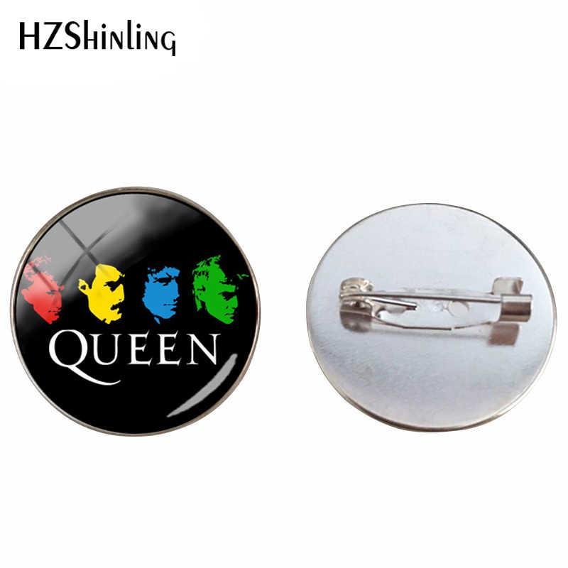 2019 Desain Baru Band Rock Ratu Bros Pin Fashion Pin Queen Band Musisi Perhiasan Bros untuk Pria Wanita