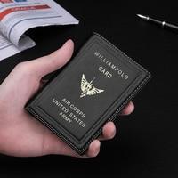 Genuine Leather Mini Wallet Men's Ultra thin Small Calorie Classic Pilot's Wallet