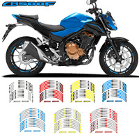 For Honda CB500F CB500X Exclusive Custom made Motorcycle Rim Wheel Decal Accessory Sticker Reflective waterproof sticker CB500