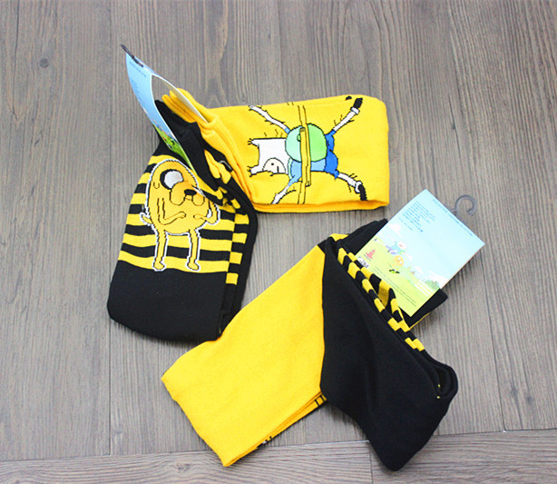 Underwear & Sleepwears Cute Anime Cartoon Adventure Socks Yellow Street Cosplay Cotton Comics Women Men Sock Party Novelty Funny Autumn Halloween 2018