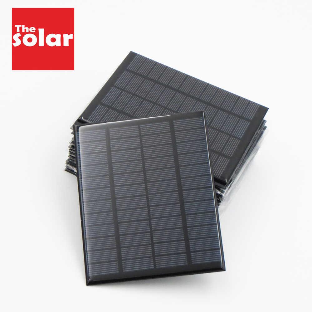 لوحة طاقة شمسية 5.5V البسيطة الشمسية نظام DIY للبطارية PV هاتف محمول شواحن المحمولة 70mA 80mA 100mA 110mA 160mA 180mA 291mA