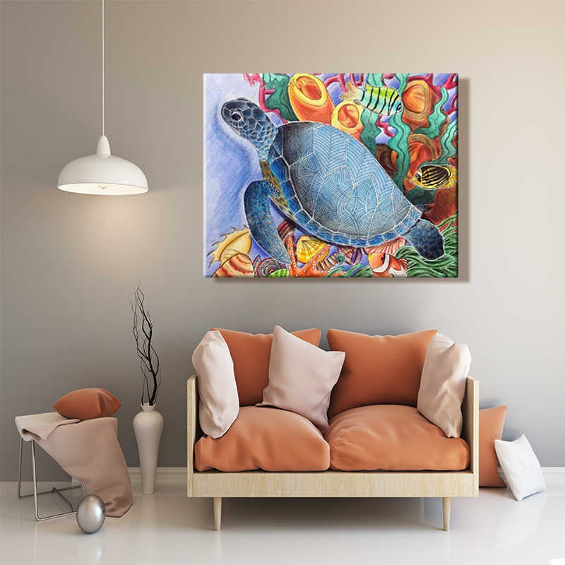 paint by number art painting by numbers Be riotous with colour Dolphin Tortoise Elephant Artwork Animal  manual  Fill