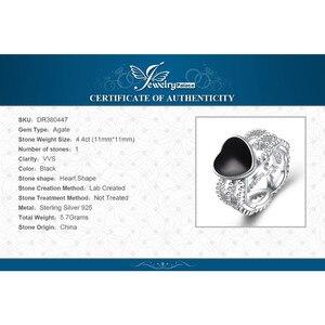 Image 5 - JewelryPalace Vintage Amore 4.4ct Genuine Black Onyx Intrecciate Fascia di 925 Anello In Argento Sterling Per Le Donne 2018 Nuova Vendita Calda