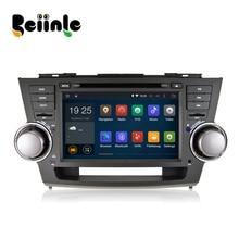 Beiinle Android 4.4.4  GPS Navigator DVD Radio  QUAD CORE 16G 2 Din Car 1024*600  for Toyota Highlander 2008-2011