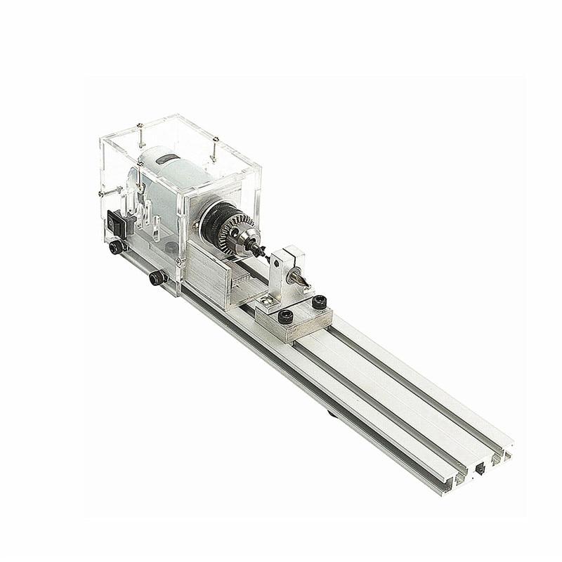 High Hardness DC 24V 80W Mini Lathe Beads Machine Woodwork DIY Lathe Standard Set + Power Supply Newest high hardness
