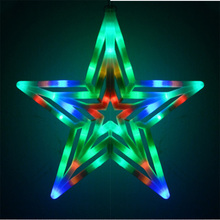 Dcloud  Xmas Christmas Tree Topper Star Light Party LED Lamp Decoration for Living Room