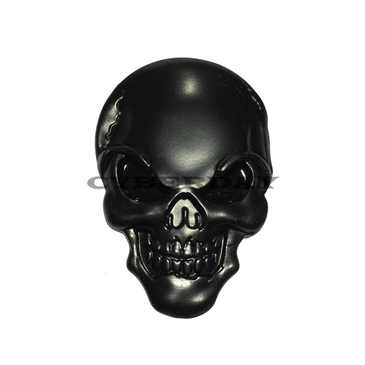 3D Skull Metal Car Sticker Auto Motor Skeleton Crossbones Emblem Badge Labe B8