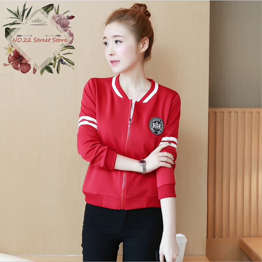 2018 Fashion Women   Basic     Jacket   Windbreaker Autumn/Spring Long Sleeve Slim Bomber   Jackets   O-Neck Zipper UP Baseball Coat