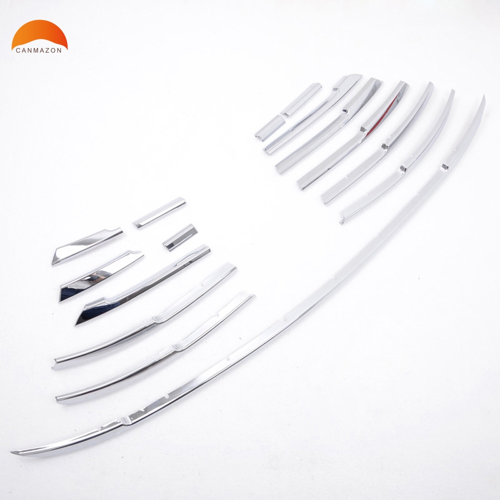 Car Styling ABS Chrome Front Center Grille Strip Decoration Cover Trims Racing Grills Cover Trim For Toyota Camry 2015 2016 цена 2017