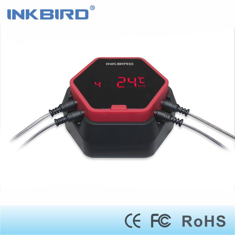 все цены на Inkbird IBT-6X  cooking kitchen Bluetooth Thermometer digital Wireless BBQ for Grilling ,boiling,Oven meat shipping from Germany онлайн