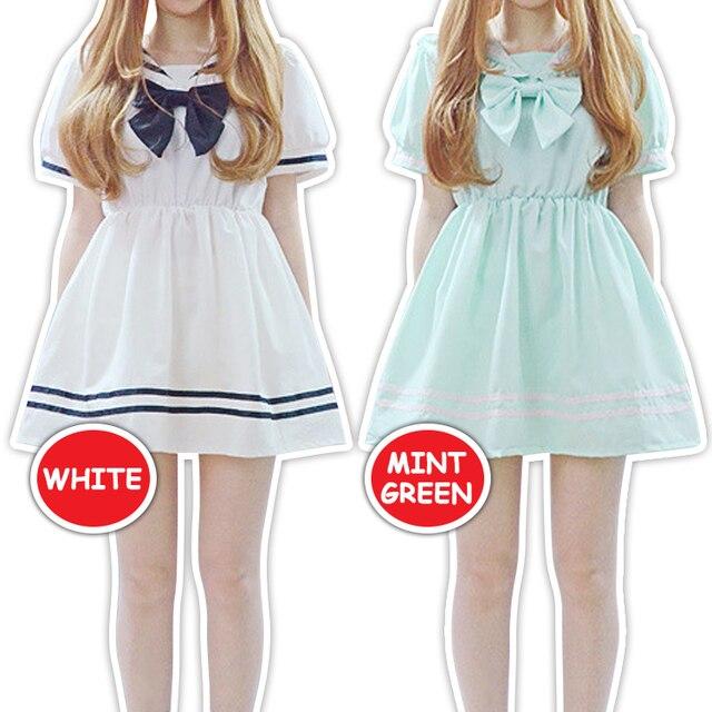 fecha de lanzamiento comprar nuevo estilo limitado € 48.93 |Del arco del vestido, kawaii pajarita dulce Lolita Harajuku  Cosplay Simple Otaku blusa 2 colores KK775 en Vestidos de Ropa de mujer en  ...