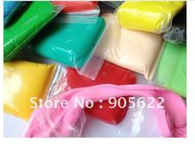 Free shipping ,12 bag/LOT air dry clay,jumping clay , with 12 colour choosed from 24 colour ,each bag  is 100g