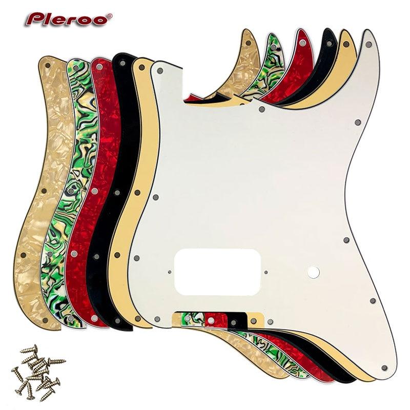 Pleroo peças de guitarra-para eua \ méxico fd stratocaster st pickguard 11 buraco us spec strat com ponte humbucker