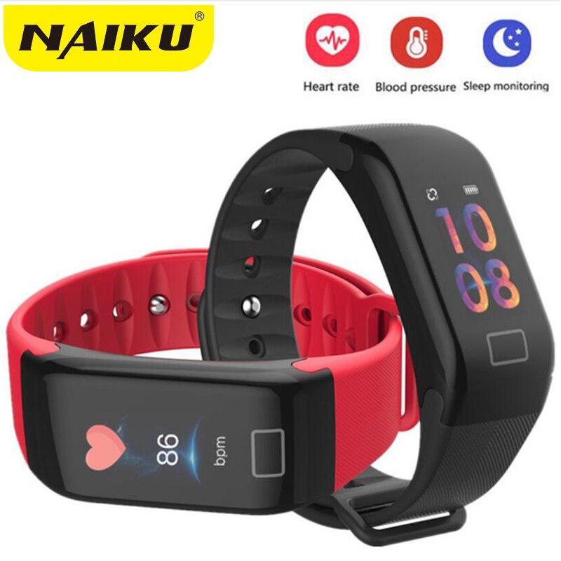 F1 Plus Couleur Lcd Écran Fitness Tracker Sommeil Tracker Smart Bracelet Moniteur de Fréquence Cardiaque Étanche Montre Smart Watch Activité Tracker
