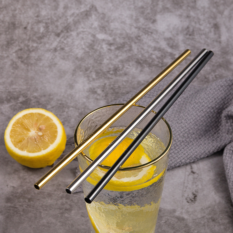 Image 5 - Reusable Metal Drinking Straws 4/8Pcs 304 Stainless Steel Sturdy Bent Straight Drinks Straw-in Drinking Straws from Home & Garden