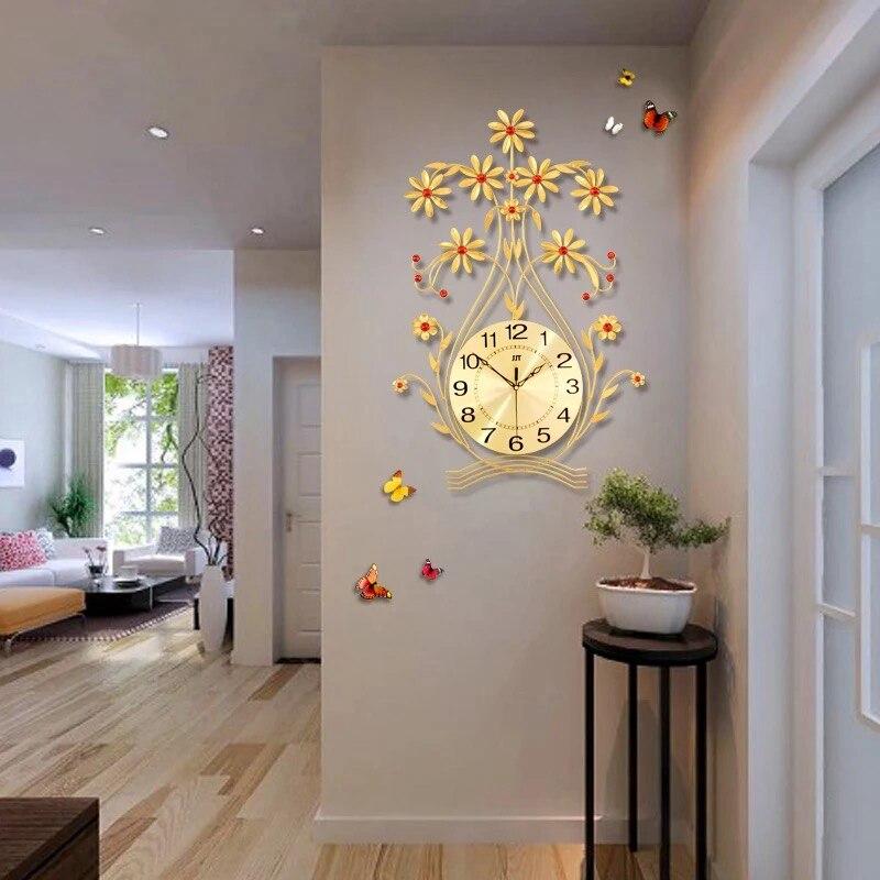 Eccezionale 3D Grande Relógio de Parede de Decoração Para Casa Design Moderno  II49