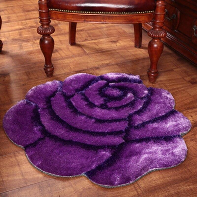 Tapis de maison de luxe de haute qualité 3D motif Rose rouge tapis de décoration de mariage pour salon chambre tapis épaissir tapis de salon - 2