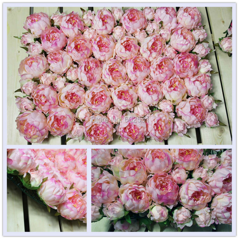 Spr Wedding Peony Flower Wall Decorations Hot Stage Backdrop