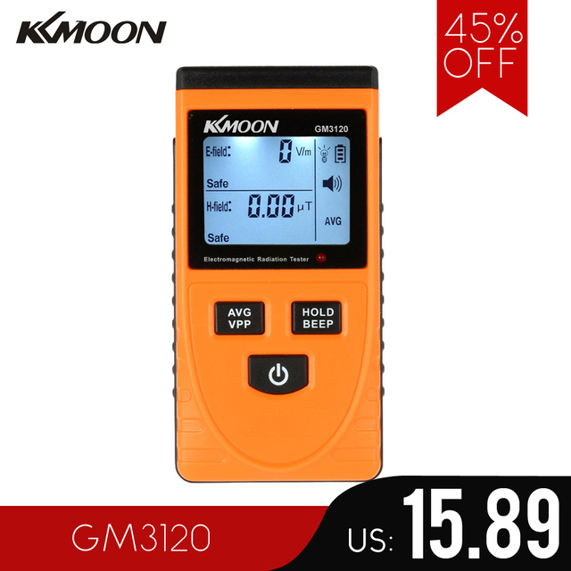 Electromagnetic Radiation Detector Meter Dosimeter Tester Counter for electric field radiation magnetic field emission GM3120