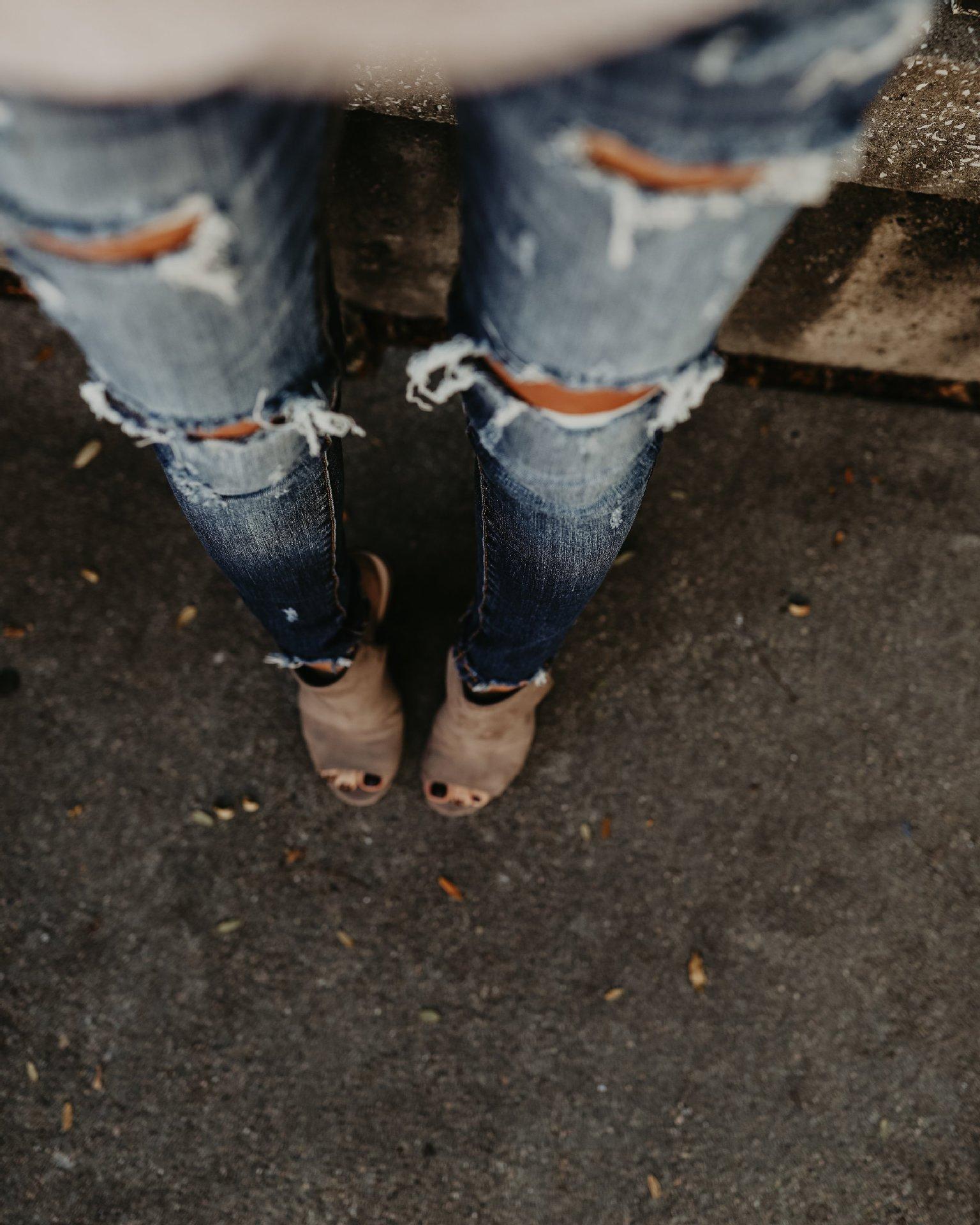 Ripped Jeans Slim Skinny Pants Vintage Jeans 19 Spring