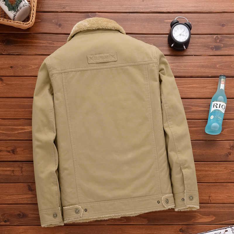 2019 зимняя куртка мужская теплая Повседневная парка хлопковое пальто Мужская Верхняя одежда Пальто размер L-8XL хлопок Толстая армейская модная тактическая верхняя одежда