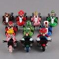 "Cute Super Mario Bros Kart Pull Back Car PVC Action Figure Toys 2"" 10pcs/set Free Shipping SMFG040"