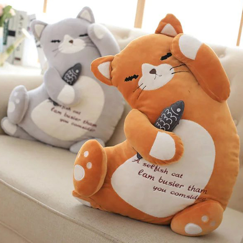 2016 Lovely lazy cat plush toy,creative lazy cat plush toys,children's birthday gifts,super soft pillow & cat plush toy free shipping plush tongue funny cat cat expression a birthday present love cats the gifts of men and women