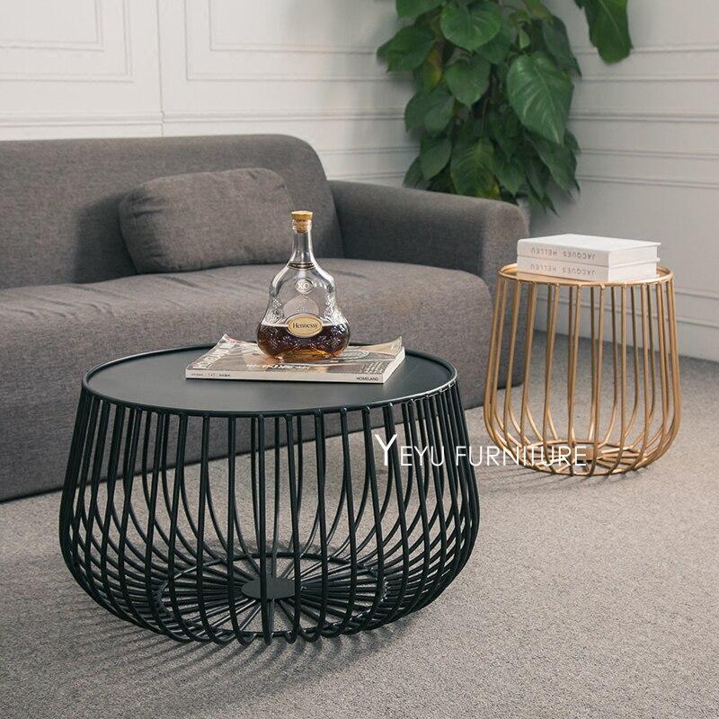 199 23 Minimaliste Design Moderne Citrouille Noir Et Or Metal Table A The Ronde Salon Cote Table Basse Table D Extremite Taille Personnaliser 1