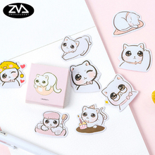 45pcs/pack Big eye cat paper stickers Diary decoration kawaii DIY scrapbooking label seal Hand account sticker stationery