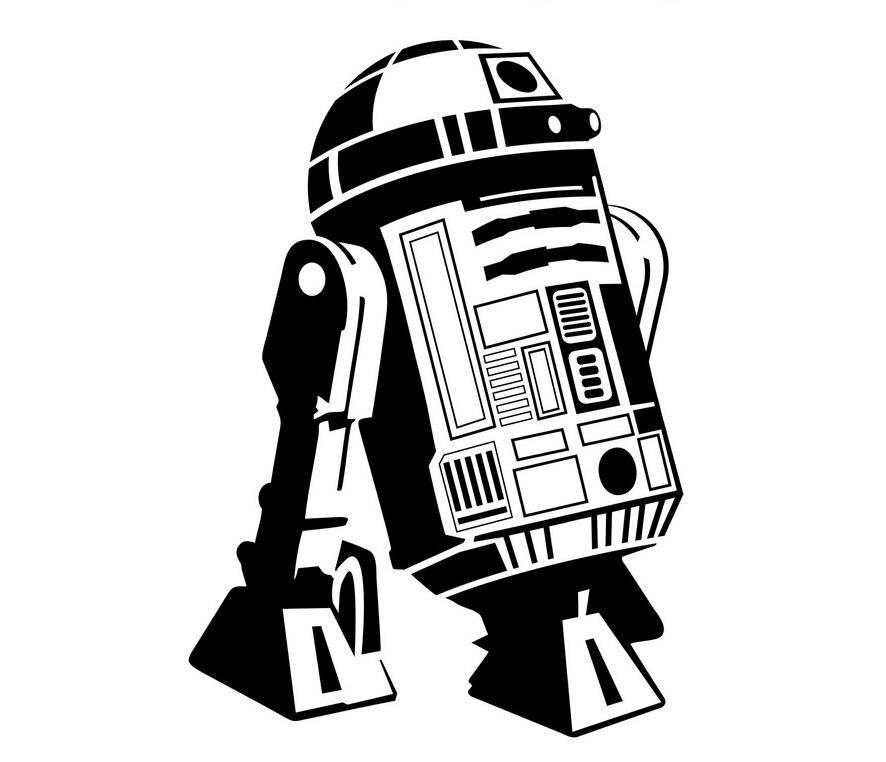 3d плакат Star Wars-r2d2 Droid робот стены Книги по искусству Наклейки Спальня Дети номер Наклейка Фреска Стекло двери росписи обоев d202