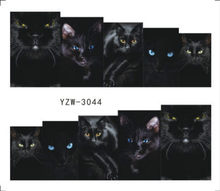 Black Cat Nail Stickers 3d Unghie Artistiche Decalcomanie Acqua Kawaii Animali Fai Da Te Decori Meow Manicure Adesivi Per smalto del gel(China)