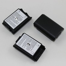 ChengHaoRan 16 pz/lotto coperture nere bianche della copertura della cassa della batteria per la batteria ricaricabile del regolatore senza fili di Xbox 360/xbox360