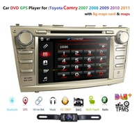 In stock 7 Free Camera +8 GB map card Mirror link RDS Car DVD player for Toyota CAMRY 2007 2011 AURION 2006 2011 Bluetooth USB