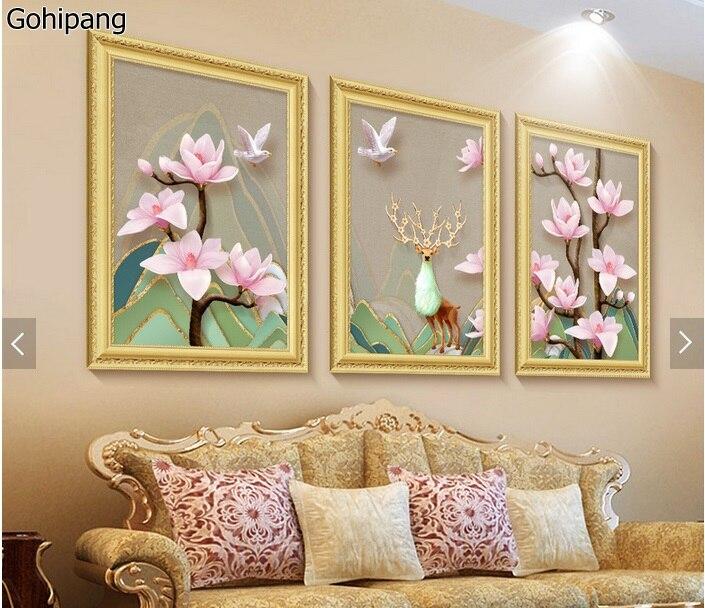 moderno d estreo magnolia socorro triple saln de pintura decorativa pintura sin marco