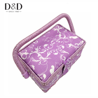 New Cotton Fabric Jewelry Storage Box Ring Stud Earring Packaging Gift Box DIY Storage Basket 19