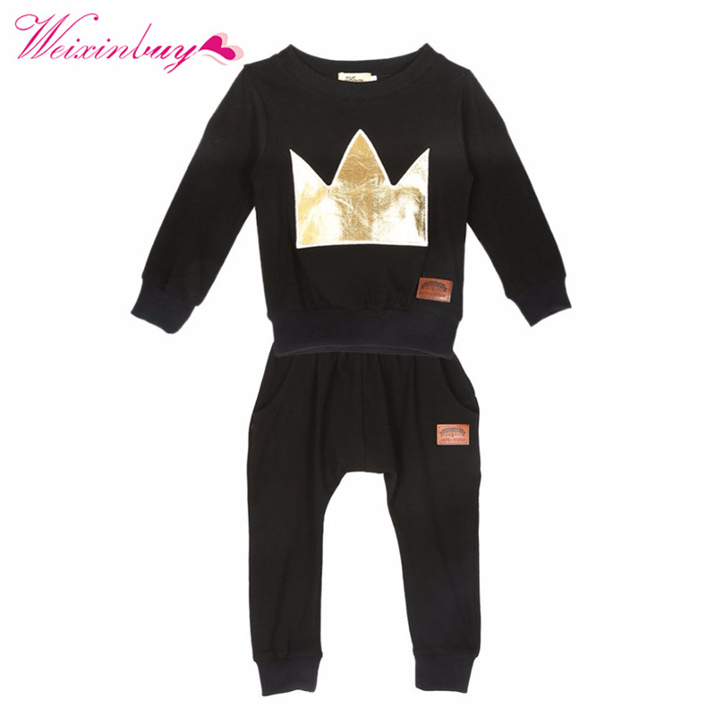 Newborn Toddler Infant Baby Boys Girls Clothes Set T-shirt Tops+Pants Outfits New 2 Pcs