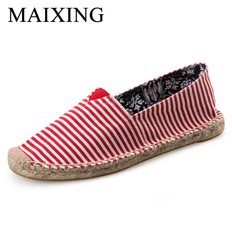 2017 new women's shoes spring linen grass fisherman shoes women's shoes couple casual canvas lazy shoes flat cloth the new straw linen canvas shoes men and women weave fisherman couple flats shoes