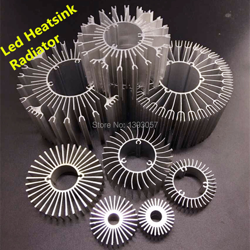 10pcs/lot LED Heatsink Aluminum Base Radiator For 1W-36W High Power LED Cooler Sunflower UFO Round PCB Radiator LED Lamp DIY украшение winter wings бабочка с клипом 10 см 1 шт красный полиэстер n069865