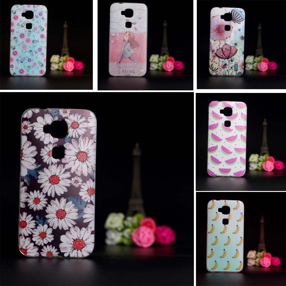 Hot Sale Soft Tpu Phone For Capas Huawei G8 Case Silicon Cover Gx8 D199 Coque Funda Back Bag