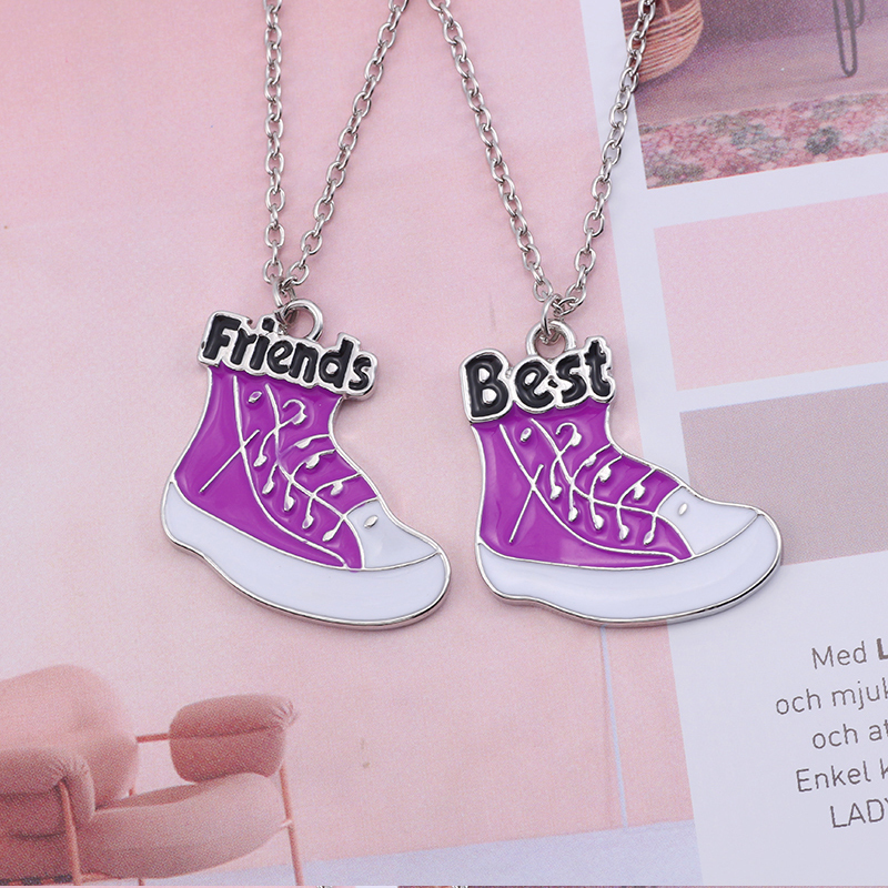 Best Friend Necklace Women Crystal Heart Tai Chi Crown Best Friends Forever Necklaces Pendants Friendship BFF Jewelry Collier 35