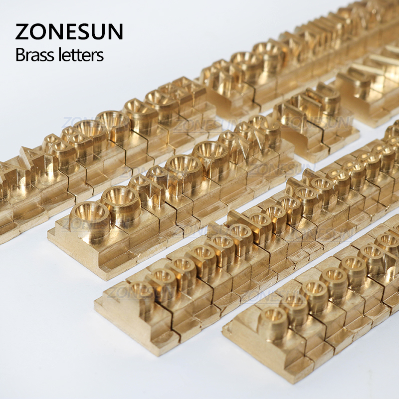 ZONESUN 184 PCS Alphabet Letter Set With Number Symbols 10cm T slot Letter Stamp For Hot Foil Stamping Machine Custom Logo Name - 2