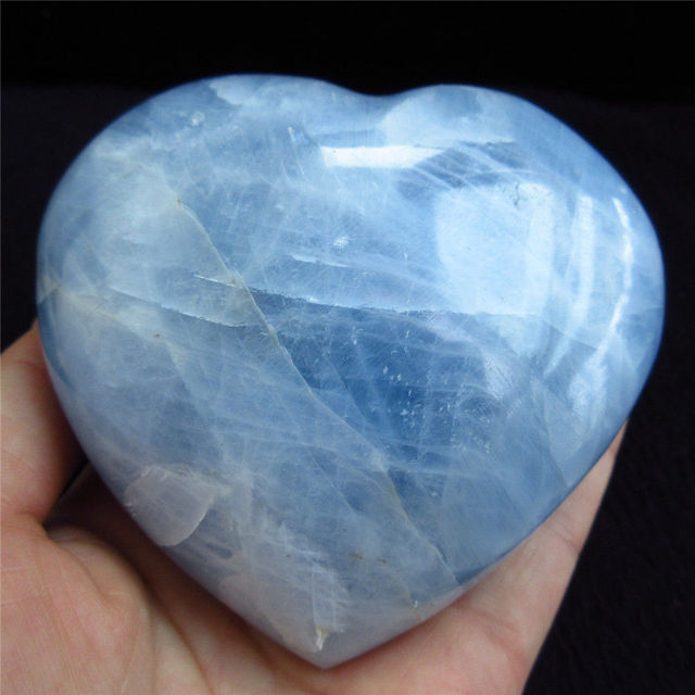 3 Quot 4 Celestite Crystal Heart Rare Natural Ice Sky Blue